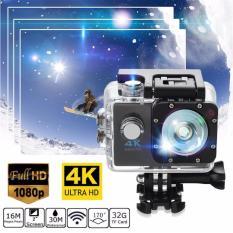 Camera hành trình cho xe máy chống nước WIFI 4K ULTRA HD tặng kèm remote có màn hình trước LCD
