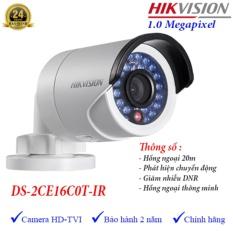 Camera HDTVI ngoài trời hồng ngoại 20m 1MP Hikvision DS-2CE16C0T-IR