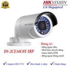 Camera HDTVI ngoài trời hồng ngoại 20m 1MP Hikvision DS-2CE16C0T-IRP