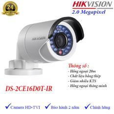 Camera HDTVI ngoài trời hồng ngoại 20m 2MP Hikvision DS-2CE16D0T-IR