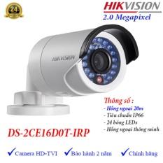 Camera HDTVI ngoài trời hồng ngoại 20m 2MP Hikvision DS-2CE16D0T-IRP