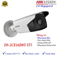 Camera HDTVI ngoài trời hồng ngoại 80m 2MP Hikvision DS-2CE16D0T-IT5