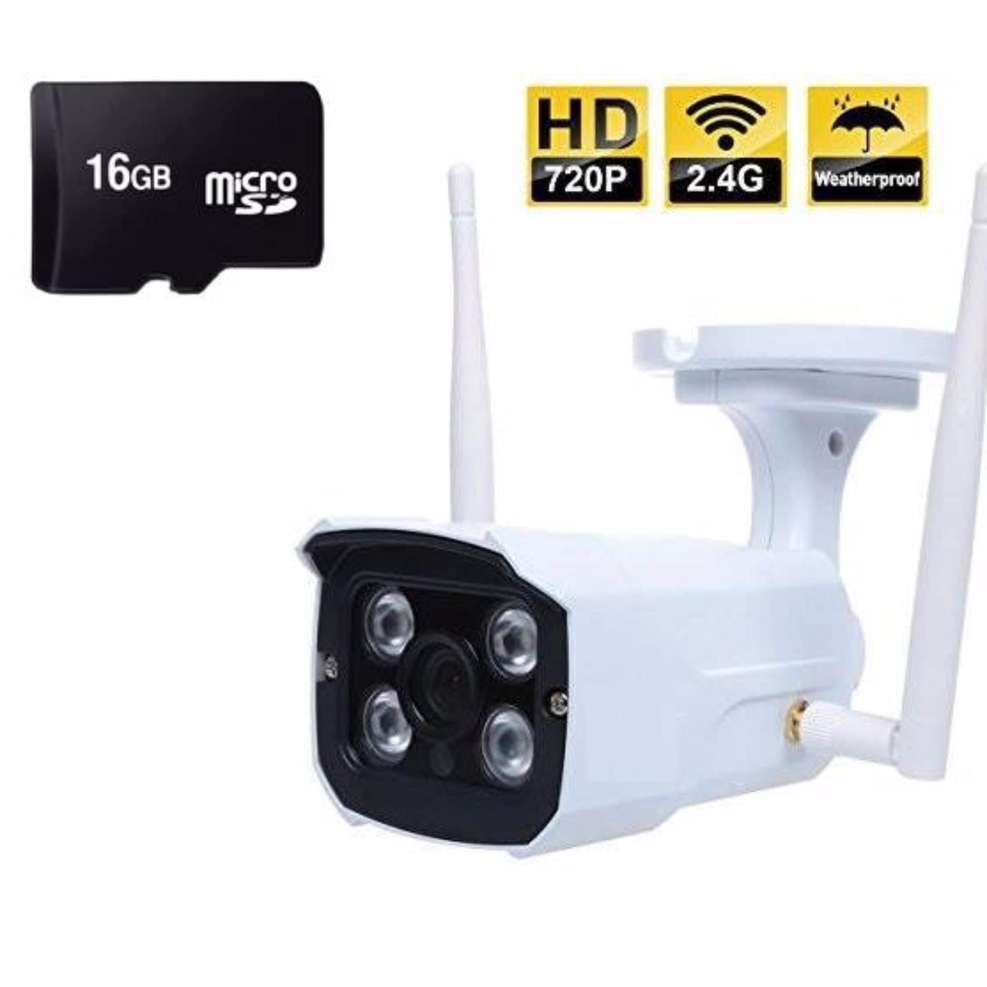 Camera IP Wifi ngoài trời NT03 kèm thẻ nhớ 16Gb