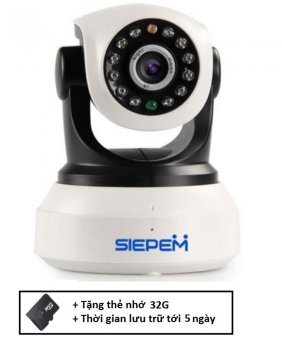 Camera IP WIFI/3G Siepem S6203Y (Trắng) + Tặng thẻ nhớ 32G - 8734728 , SI405ELAA1FRS7VNAMZ-2284914 , 224_SI405ELAA1FRS7VNAMZ-2284914 , 2000000 , Camera-IP-WIFI-3G-Siepem-S6203Y-Trang-Tang-the-nho-32G-224_SI405ELAA1FRS7VNAMZ-2284914 , lazada.vn , Camera IP WIFI/3G Siepem S6203Y (Trắng) + Tặng thẻ nhớ 32G