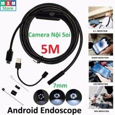 Camera nội soi chống nước(IP67) 7mm dài 5m cho Máy tính và Điện thoại