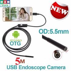 Camera nội soi chống nước(IP67) siêu nhỏ 5.5mm dài 5m cho Máy tính và Điện thoại