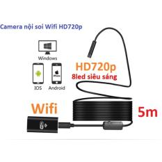 Camera nội soi dây dài 5m phát Wifi chuẩn HD720p,chống nước IP67