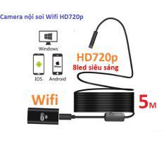 Camera nội soi độ nét cao HD720p phát Wifi dây dài 5m,chống nước IP67,phiên bản 2017