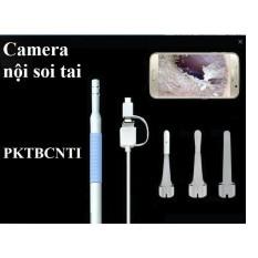 [ĐỘ NÉT CAO]Camera nội soi tai 5.5mm có đèn led trợ sáng Tặng bộ phụ kiện lấy ráy tai