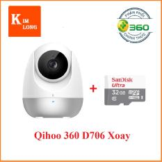 Camera Qihoo 360 IP D706 hồng ngoại xoay thông minh 1080p + Thẻ 32gb Class 10