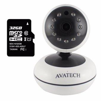 Camera quan sát IP Wi-Fi AVATech AVT-202 1.0 (Trắng) kèm thẻ nhớ 32GB - 8046976 , AV874ELAA386FGVNAMZ-5642059 , 224_AV874ELAA386FGVNAMZ-5642059 , 999000 , Camera-quan-sat-IP-Wi-Fi-AVATech-AVT-202-1.0-Trang-kem-the-nho-32GB-224_AV874ELAA386FGVNAMZ-5642059 , lazada.vn , Camera quan sát IP Wi-Fi AVATech AVT-202 1.0 (Trắng)