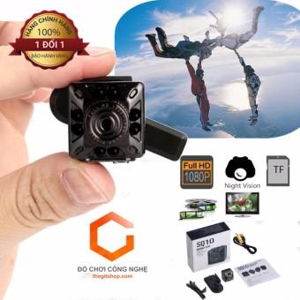 Camera  siêu nhỏ gọn Full HD SQ10  - Đèn hồng ngoại quay đêm