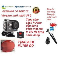 Camera thể thao, camera hành trình 4K wifi Eken H9R có remote version mới năm 2018 Ver.5.0 tặng kèm gậy selfire và kính lọc đỏ cho camera thể thao