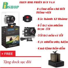 Camera thể thao EKEN H9R 4K Ultra HD WiFi,có remote phiên bản mới nhất 4.0 – Tặng dock sạc đôi, bảo hành 12 tháng