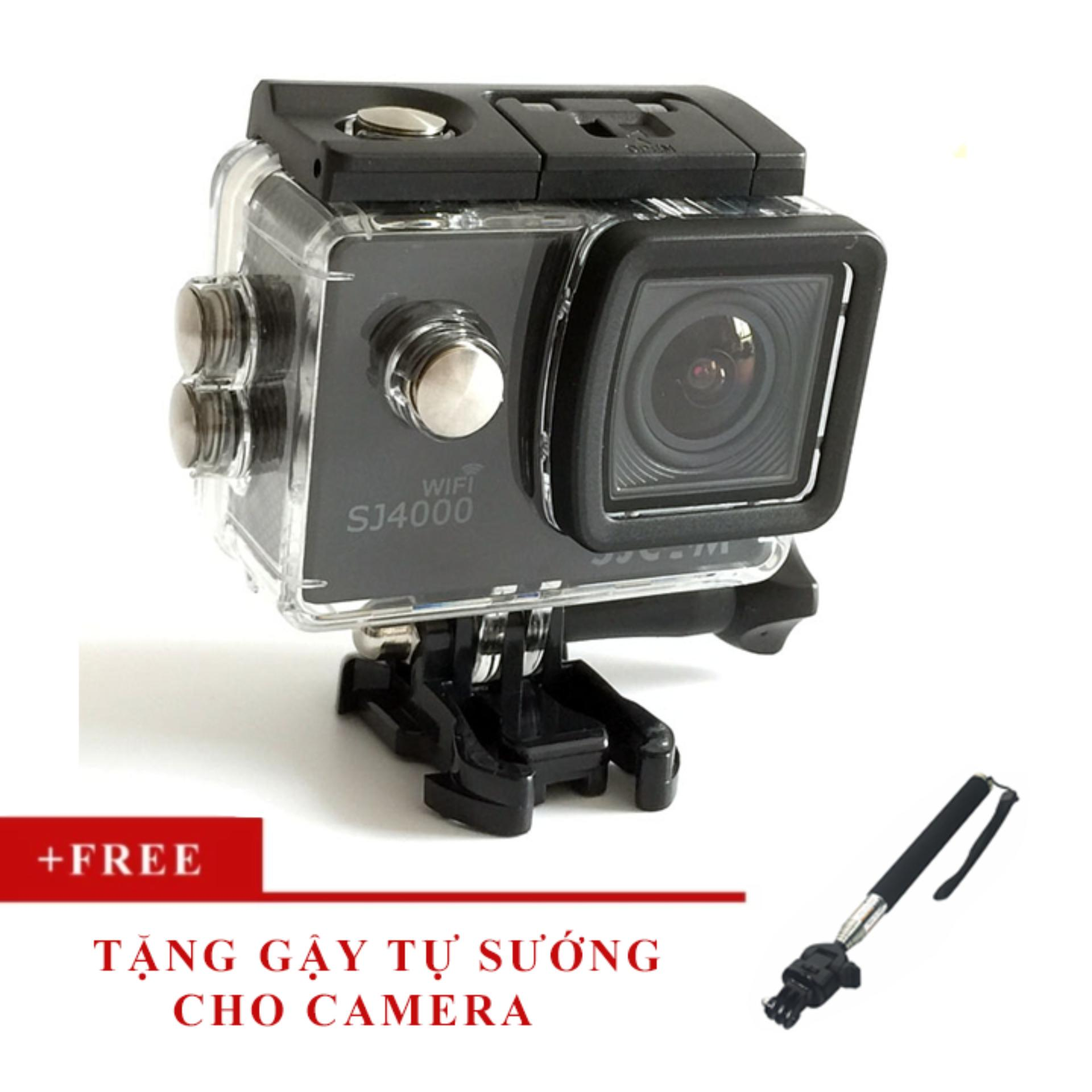 Camera thể thao SJcam SJ4000 WIFI, phiên bản màn hình LCD 2.0 inch- Tặng gậy tự sướng, bảo hành 12 tháng