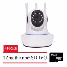 Camera wifi 3 anten xoay 360 Yoosee X8100HD + thẻ nhớ 16G