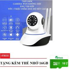 Camera Yoosee 8100 HD Wireless IP Quan Sát – Xoay 360 Độ Hola Kèm Thẻ Nhớ 16GB