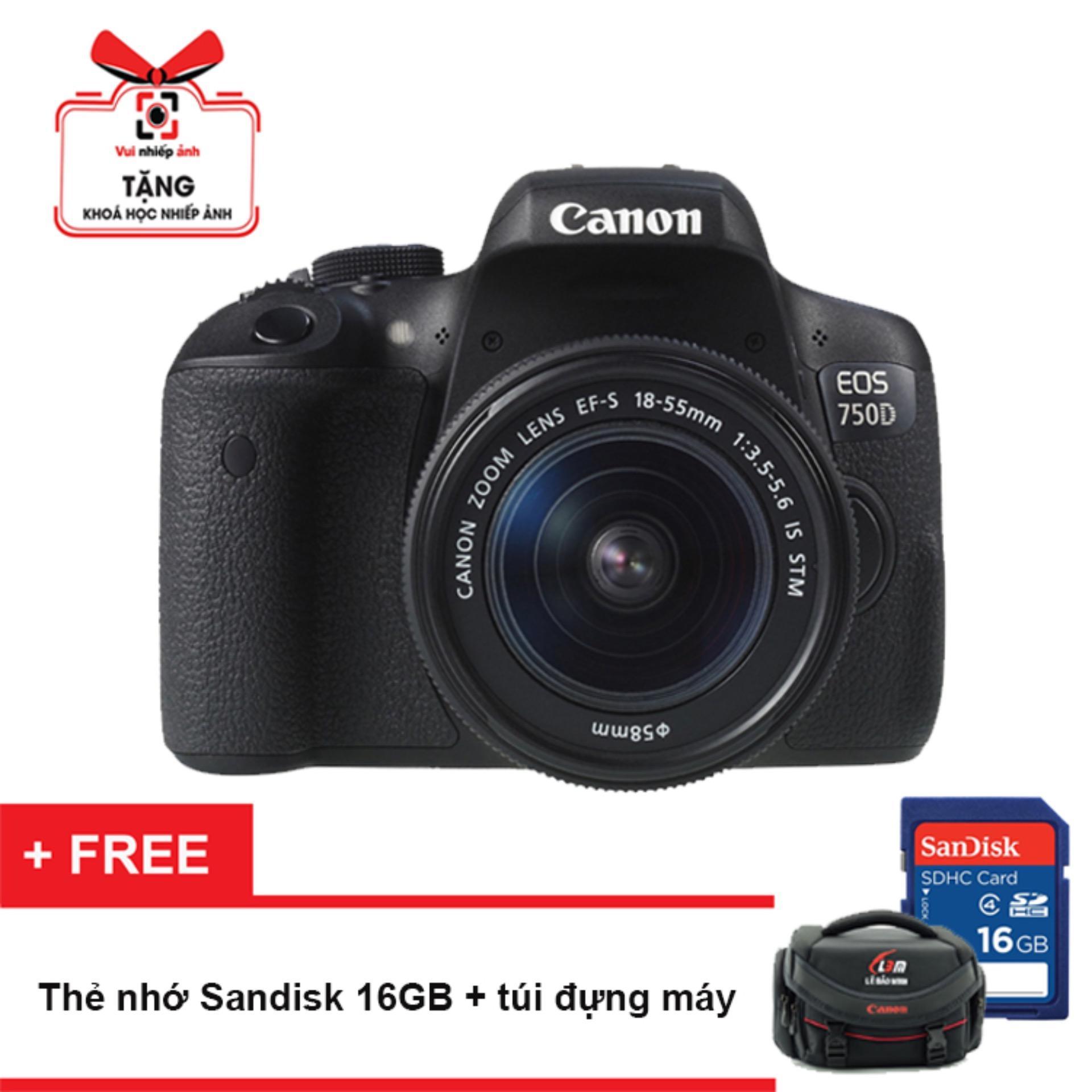 Canon EOS 750D 24.2MP và lens Kit 18-55mm IS STM (Đen) - Hãng Phân Phối Chính Thức + Tặng thẻ...