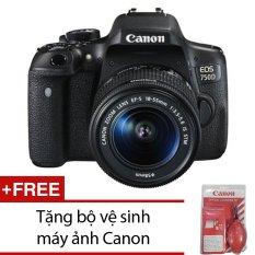 Đánh Giá Canon EOS 750D 24.2MP với lens Kit 18-55 IS STM (Đen) + Tặng bộ vệ sinh máy ảnh Canon  Khanhlong Camera (Tp.HCM)