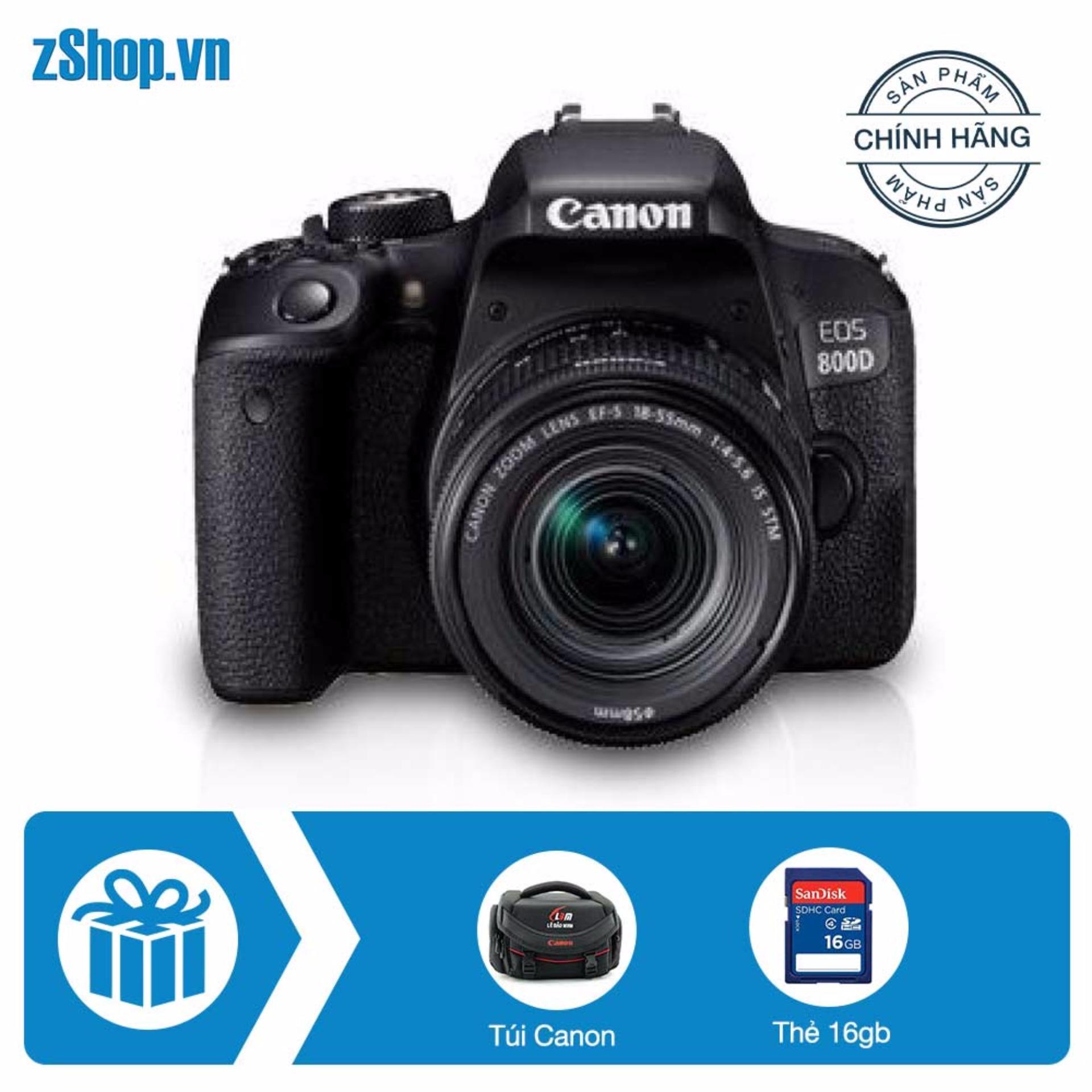Bảng Báo Giá Canon EOS 800D kit 18-55mm (Chính hãng Lê Bảo Minh) + Tặng khoá học nhiếp ảnh EOS + Thẻ SD 16GB + Túi Canon