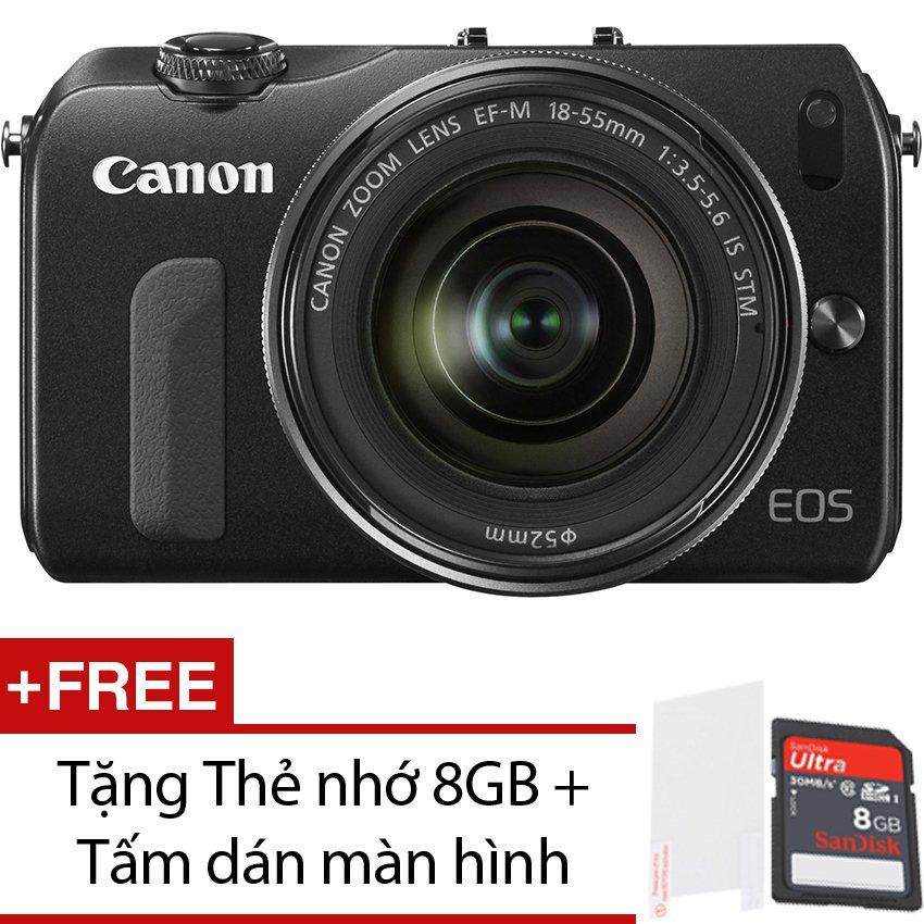 Canon EOS M 18.1MP với Lens Kit 18-55mm F3.5-F5.6 (Đen) + Tặng 1 Thẻ nhớ 8GB , 1 Tấm dán màn hình