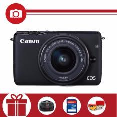 Canon EOS M10 18MP với Lens kit 15-45mm (Đen) – Tặng thẻ nhớ SD 16GB, túi đựng máy, Pikachu nhồi bông