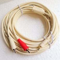 Cáp Âm Thanh Cao Cấp 3.5mm Ra 2 Đầu Audio Bông Sen Choseal 10m