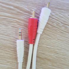 Cáp Audio 1 đầu 3.5 ra 2 đầu hoa sen dài 1,8m cao cấp