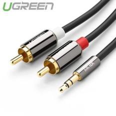 Cáp audio 3.5mm ra 2 đầu RCA 1.5M UGREEN UG-10583 ( cao cấp)