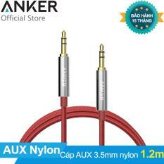 Cáp audio cao cấp ANKER 3.5mm Nylon Braided Auxiliary Audio 1.2m (Đỏ)