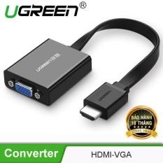 Cáp chuyển đổi HDMI sang VGA dây dẹt tích hợp cổng Audio 3.5mm + Micro USB hỗ trợ nguồn ngoài UGREEN MM103 40248 – Hãng phân phối chính thức