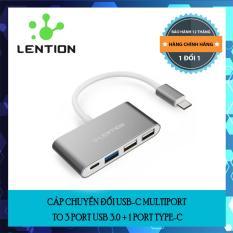 Cáp chuyển đổi USB-C Multiport to 3 port USB 3.0 + 1 port type-C chính hãng Lention