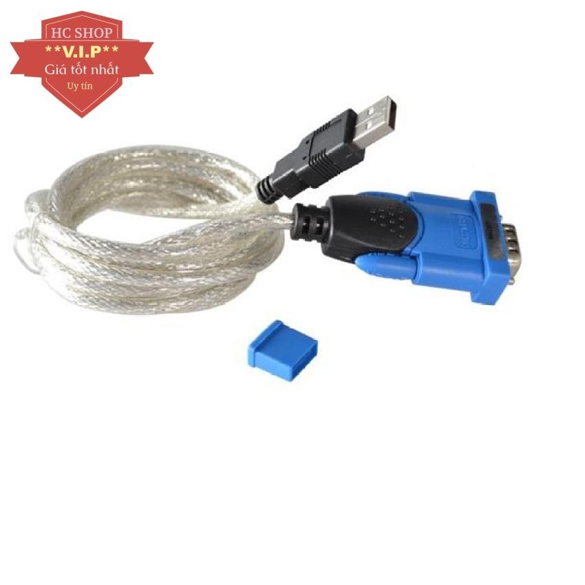 Cáp chuyển đổi USB sang RS232 (Xanh)