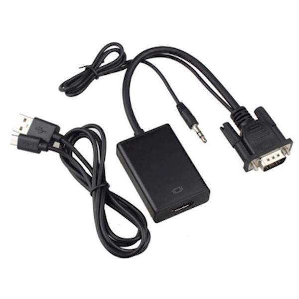 Cáp Chuyển Đổi VGA Audio To HDMI (Hỗ Trợ Full HDMI) HIỆU HDTV