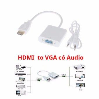 Cáp chuyển HDMI to VGA audio, HDMI ra VGA có âm thanh