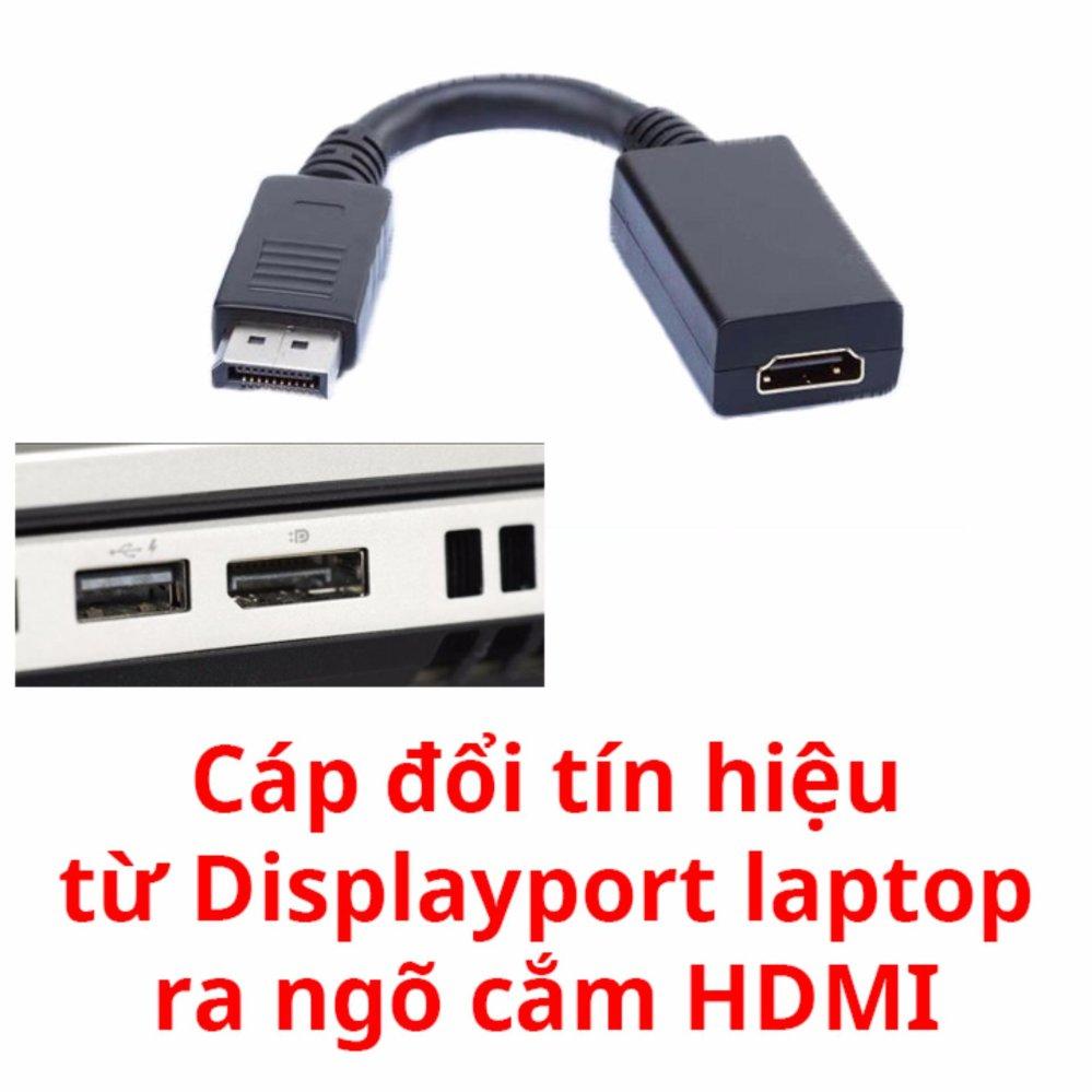 Cấp chuyển tín hiệu từ Displayport ra HDMI cho laptop(Đen)