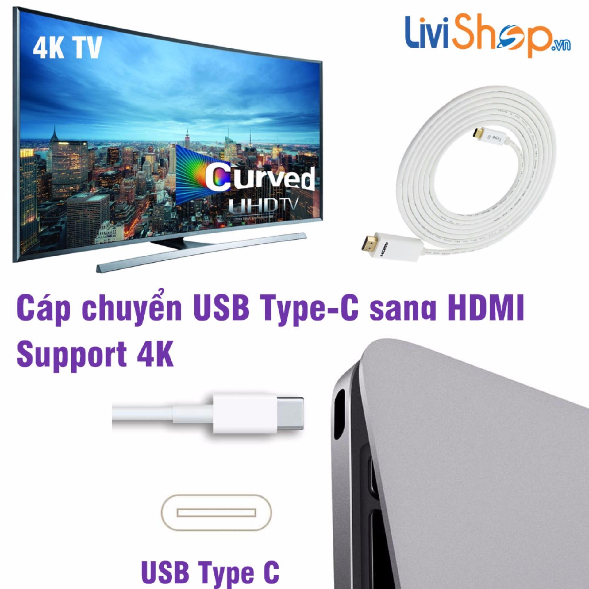 Cáp chuyển USB Type C sang HDMI hỗ trợ xuất Video 4K (3 mét) siêu nét