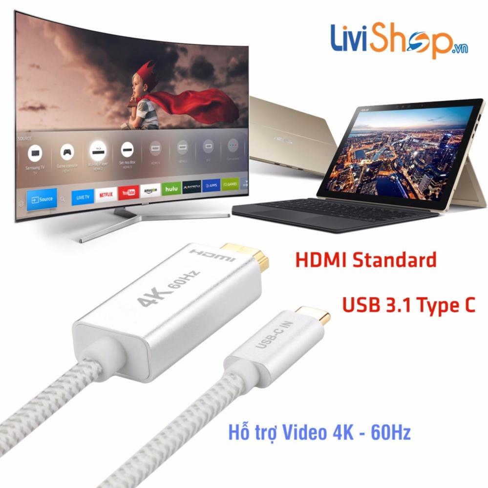 Cáp chuyển USB Type C sang HDMI hỗ trợ xuất Video 4K – 60Hz(1 mét)