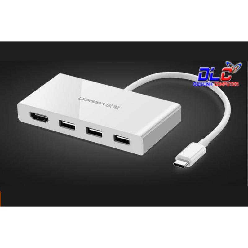 Bảng giá Cáp chuyển USB Type C to HDMI, hub USB 3.0 Ugreen 40374 Phong Vũ