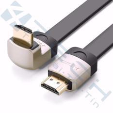 Cáp HDMI 1M dẹt nghiêng góc 90 độ chính hãng Ugreen 10277 hỗ trợ 3D 4K