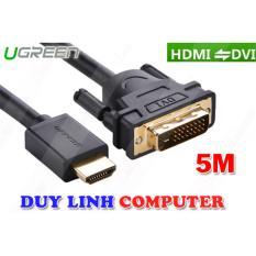 Cáp HDMI To DVI 24+1 dài 5m Ugreen 10137
