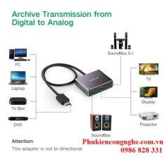 Cáp HDMI to HDMI có hỗ trợ cổng quang SPDIF 5.1 + Audio 3.5 Ugreen UG-40281