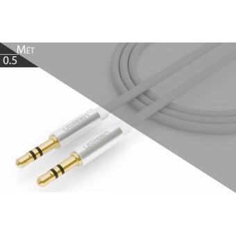 Cáp loa 2 đầu 3.5mm (AUX) loại ngắn, dây tròn 0.5 mét UGREEN 10750(màu trắng)