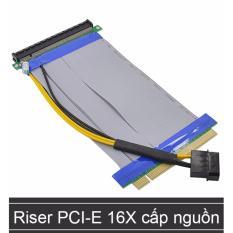 Cập Nhật Giá Cáp Reser nối dài khe PCI-E 16X (Cáp nối dài khe cắm Card màn hình) hỗ trợ cấp nguồn bổ xung – 20Cm