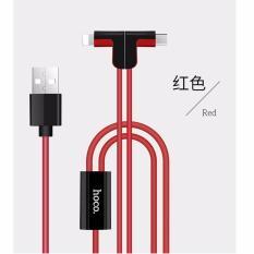 Cáp sạc 2 đầu chữ L Hoco X12 - cổng microUSB và Lightning - Hãng phân phối chính thức