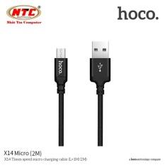 Cáp sạc dây dù Hoco X14 dài 2M – cổng microUSB (Hỗ trợ sạc nhanh) – Hãng phân phối chính thức