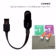 Cáp sạc Miband 2 + 02 miếng dán màn hình Miband 2
