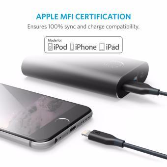 Cáp sạc siêu bền ANKER PowerLine Lightning 3m cho iPhone iPad iPod (Xám) - 3