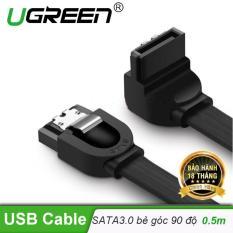 Cáp SATA 3.0 đầu bẻ góc 90 độ truyền tốc độ cao 6Gb/s dài 0.5m UGREEN US217 30797 – Hãng phân phối chính thức