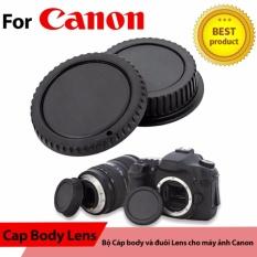 Cap sau và nắp body for Canon (Đen)